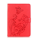 Body collant portefeuille / Support de Carte / Other Fleur Cuir PU Doux Embossed leather Couverture de cas pour Apple iPad Mini 3/2/1