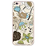 de volta Ultra Fino / Translúcido Azulejo TPU Macio Ultra-thin Sof  Back Cover Case Capa Para AppleiPhone 6s Plus/6 Plus / iPhone 6s/6 /