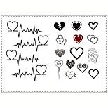 5PCS Fashion Love Body Art Waterproof Temporary Tattoos Sexy Tattoo Stickers (Size: 3.74'' by 5.71'')