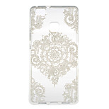 White Flower Corners Pattern TPU Soft Case Phone Case for for Huawei Series Model