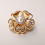 European and American fashion zircon Pearl Brooch Series 008
