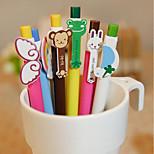 A1221-6 Korea Stationery Animal Wings Rainbow Ballpoint Pen Cartoon 6 Small Fresh Student Prizes
