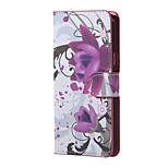 espalda billetera / Soporte de Tarjeta / A Prueba de Golpes / A Prueba de Polvo / con el soporte / Diseño Flor Cuero Sintético Suave