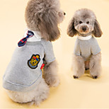 Dog Shirt / T-Shirt Pink / Gray Winter Solid Holiday, Dog Clothes / Dog Clothing-Other