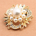 Factory Price Special Design Fashion Alloy Rhinestone Pearls Lady Brooches for Women