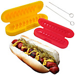 Curl-A-Dog Hot Dog Spiral Cutting Skewer for Gourmet BBQ