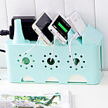 Multifunction Power Cord Socket Storage Box Finishing Debris Box Phone Holder