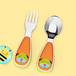 Stainless Steel  Baby Fork and Spoon(Dog)