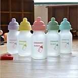 (Color random)1PCS 145ml children frosted glass water bottle Outdoor Travel Sports Water Bottle Fruit Juice cup