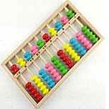 Wooden Young Children Learning to Count Beech Colorful Preschool Computing Chassis