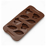 Bakeware Leaf-Shaped Chocolate Fudge Cake Mold Silicone Mold 8 With D-311 5Pcs