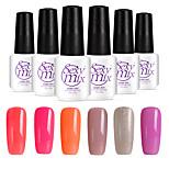6PCS Sexymix Nail Polish Sets 7ml UV Gel Shining Color Varnish Soak off Long Lasting NO.9