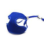 Cat / Dog Collar / Harness / Leash / Hands Free Leash Adjustable/Breathable  / Vest / Safety / Blue Mesh