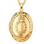 European Style Locket 18K Gold/Platinum Plated Put in Solid Pictures Necklace&Pendant Women/Men Jewelry Wholesale P30037