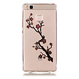 TPU Material Plum Pattern Bronzing Phone Case for  Huawei  P9 Lite/P9/ P8 Lite