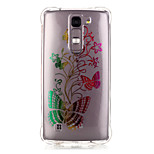 TPU Material Gradient Butterfly Pattern Bronzing Phone Case for LG K10/K8/K7