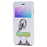 Body collant Mise en veille automatique Dessin-Animé Cuir PU Dur Couverture de cas pour Apple iPhone 6s Plus/6 Plus / iPhone 6s/6