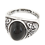 Men's European Style Vintage Retro Fashion Metal Gem Ring