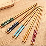 E8-18 Small Floral Colored Chopsticks Chopsticks Bamboo Chopsticks Aqueous Sweet Cherry Chopsticks