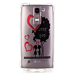 Back Pattern Tree TPU Soft Luxury Bronzing Case Cover For LG LG K10 / LG K8 / LG K7