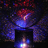 färgskiftande stjärna skönhet stjärnhimmel projektor nattlampa (3xaa, slumpmässig färg)
