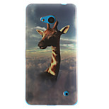 Giraffe Pattern TPU+IMD Soft Case for Multiple Nokia Lumia 640/N535/N630/N530