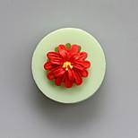 moldes de uma flor de silicone forma de chocolate, moldes de bolo, moldes de sabão, ferramentas de decoração bakeware