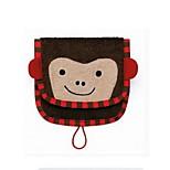 Cartoon Kids Wash Towel Baby Cotton Saliva Nursing Wash Cloth Handkerchief (Monkey)