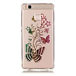 Back Pattern Butterfly TPU Soft Luxury Bronzing Case Cover For Huawei Huawei P9 / Huawei P9 Lite / Huawei P8 Lite
