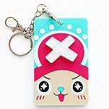 3500 Wholesale Korean Cartoon Animal Stereo Card Sets Beard Silica Gel Key Ring With Bank Card Holder (Joe) Bus