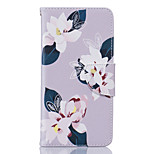 Gray Lily Pattern Card Phone Holster for LG K7/K8/K10