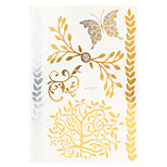 1pc Water Transfer Decal Gold Silver Butterfly Flash Metallic Women Hair Body Art Temporary Tattoo Sticker HT307