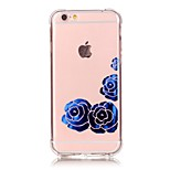 iPhone 7 Plus Shockproof Transparent Rose TPU Soft Bronzing Crafts Case Cover For iPhone 6s 6 Plus SE 5s 5