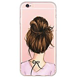 indietro Ultrasottile / Traslucido sexy Lady TPU Morbido Ultra-thin Sof  Back Cover Copertura di caso per AppleiPhone 6s Plus/6 Plus /