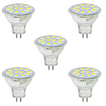 3W GU4(MR11) Luces Decorativas MR11 12 SMD 5730 380LM lm Blanco Cálido / Blanco Fresco Decorativa 09.30 V 5 piezas
