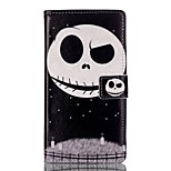 For Huawei Case / P9 / P9 Lite Wallet / Card Holder / with Stand / Flip Case Full Body Case Skull Hard PU Leather HuaweiHuawei P9 /