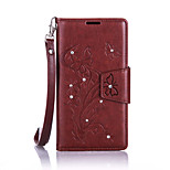 For Wiko Lenny2 Luxury Retro Butterfly Diamonds embossed wallet Phone Cover With Stand Card Holder