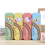 Tinplate Pencil Case Student Stationery Creative Cute Animal Series Single Tin