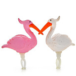 White Powder Swan Couple Dust Plug
