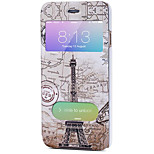 Full Body Auto Sleep/Wake Up Eiffel Tower PU Leather Hard Case Cover For Apple iPhone 6s Plus/6 Plus / iPhone 6s/6