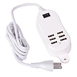 Home Charger For iPad For Cellphone For iPhone 6 USB Ports US Plug White