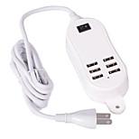 Caricabatterie fisso Per iPad Per cellulare Per iPhone 6 porte USB Presa US Bianco