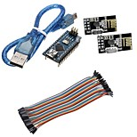 Mini Nano V3.0 ATmega328P Microcontroller Board w/USB Cable +NRF24L01, 2.4GHz Wireless Transceiver  Kit For Arduino