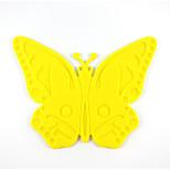 Cartoon Butterfly Models Slip Silicone Mat Heat Mat A-24 5Pcs