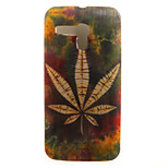 Leaf Painting Pattern TPU Soft Case for Motorola Moto G XT1028/XT1031/XT1032