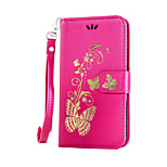 EFORCASE® Bronzing Butterfly Lanyard PU Phone Case for Huawei P9lite/P9/P8lite/4C/5X/Y550/Y560/Y6/Y625/Y5 II/Y635