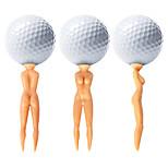 nuddie nackte Dame Golf-Tees