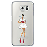 Sexy Lady Pattern TPU  Ultra-thin Back Cover Case for Samsung Galaxy S6 / Galaxy S5 / Galaxy S4
