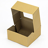 4 Hole Kraft Brown Paper Cupcake Box Extra Thick with insert 1Set
