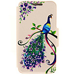 SZKINSTON® Peacock Flower Pattern Full Body Leather with Stand for Huawei P9/P9 Plus/P9 Lite/G9 and Huawei Honor 4X/3C